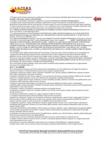 Statuto ANCORS Pagina 2