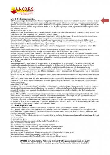 Statuto ANCORS Pagina 3