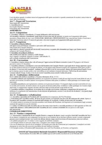 Statuto ANCORS Pagina 4