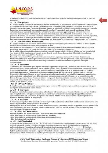 Statuto ANCORS Pagina 5