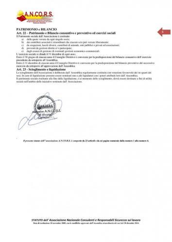Statuto ANCORS Pagina 6